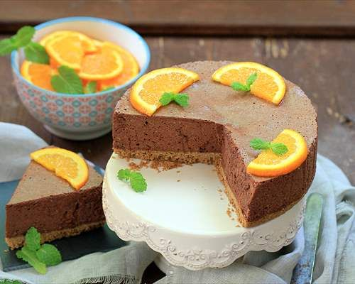 Tarta mousse de chocolate y naranja