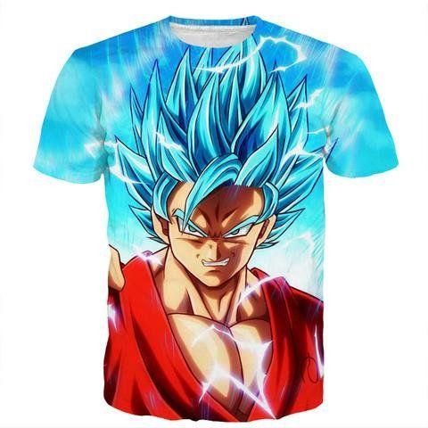 Angry Goku Super Saiyan God Blue Power Thunder SSGSS Cool Design T-Shirt    #Angry #Goku #Super #Saiyan #God #Blue #Power #Thunder #SSGSS #Cool #Design #T-Shirt