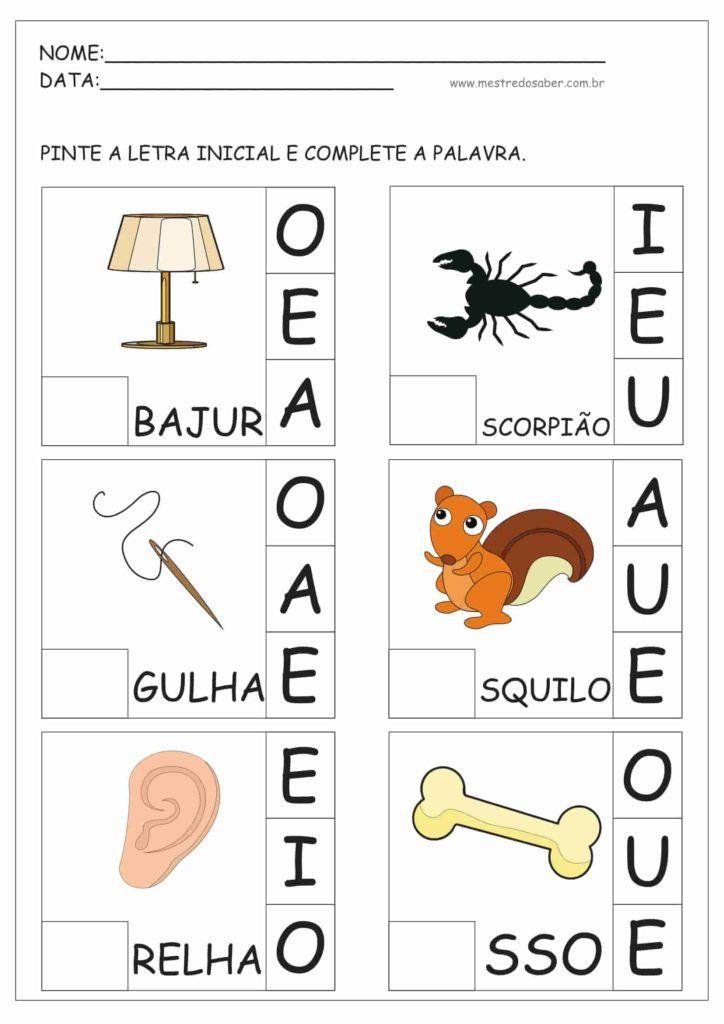 Atividades Para Educacao Infantil Com Imagens Educacao
