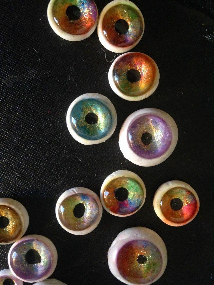 Sugarplum Village: Faux Glass Eyes: Polymer Clay