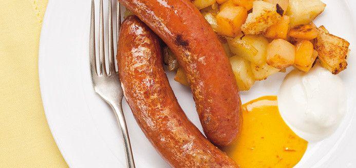 Saucisses polonaises et moutarde épicée au miel Recettes | Ricardo