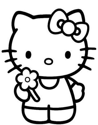 hello kitty printable coloring page.