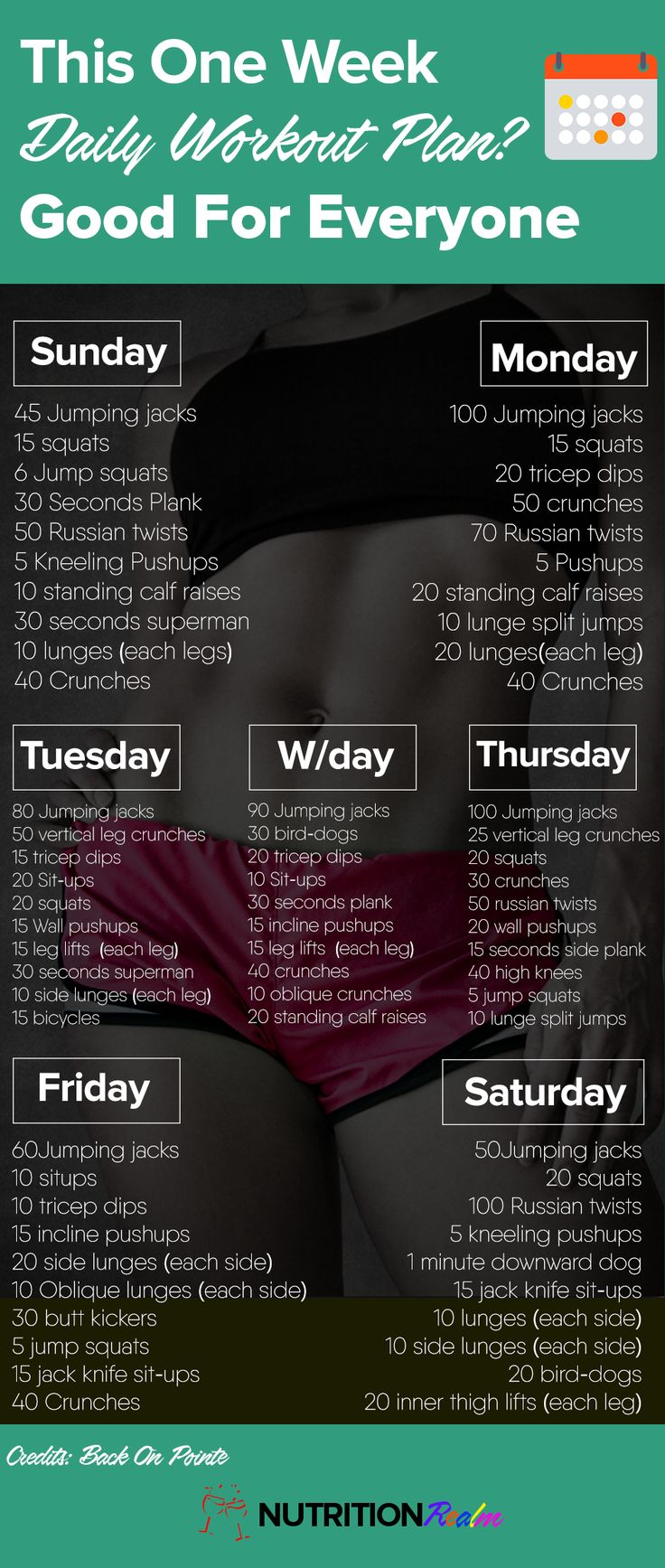 one week workout plan                                                                                                                                                                                 More