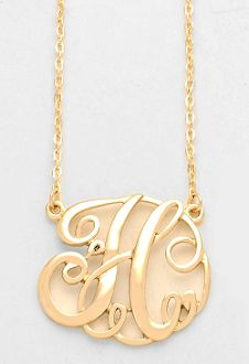 34 best monogram necklaces images on pinterest initial necklaces monogram initial necklace 15 letter h pendant gold chain mozeypictures Images