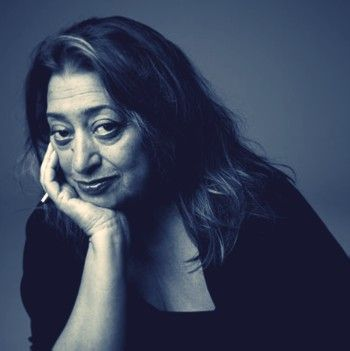 "Zaha Hadid | architect, designer & teacher. Received the Pritzker Architecture Prize in 2004, the first woman to do so, and the Royal Institute of British Architects Stirling Prize in 2010 and 2011. Her buildings are distinctively futuristic, characterized by ""multiple perspective points and fragmented geometry to evoke the chaos of modern life"". In February 2013 she was named one of the 100 most powerful women in the United Kingdom by Woman's Hour on BBC Radio 4."