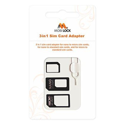 Mobi Lock 3 in 1 Sim Card Adapter (Micro, Nano and Standard Sim) for only FREE! That's 100% off the regular price.