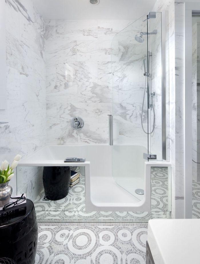 1001 Astuces Pour Amenager Une Petite Salle De Bain Avec Baignoire Idees Baignoire Petite Salle De Bain Et Baignoire Douche