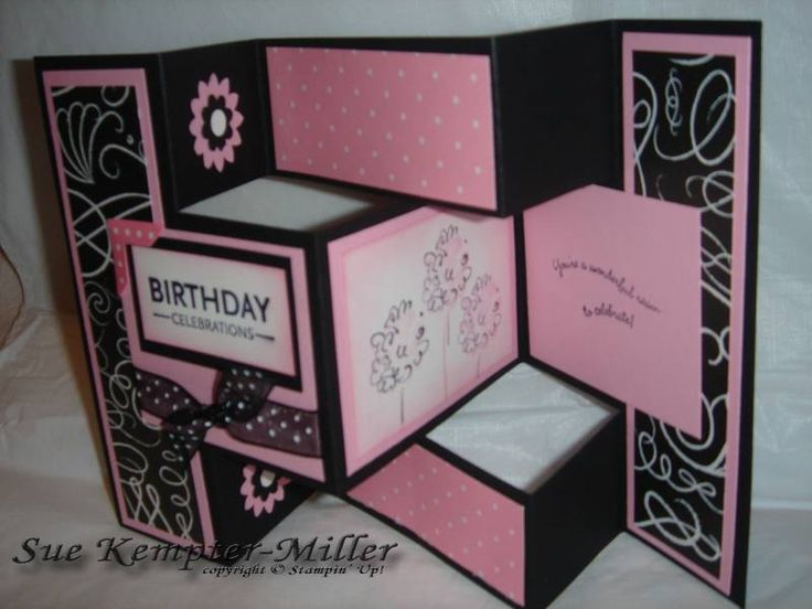 28 Best Images About Cards - Tri-Fold Shutter Cards On Pinterest