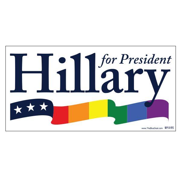 Hillary Rainbow Bumper Sticker
