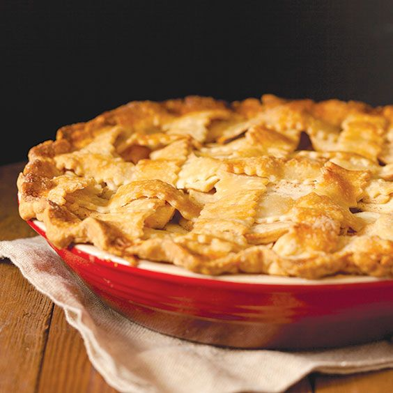 Homestyle Apple Pie (Paula Deen).  Uses a refrigerated pie crust.