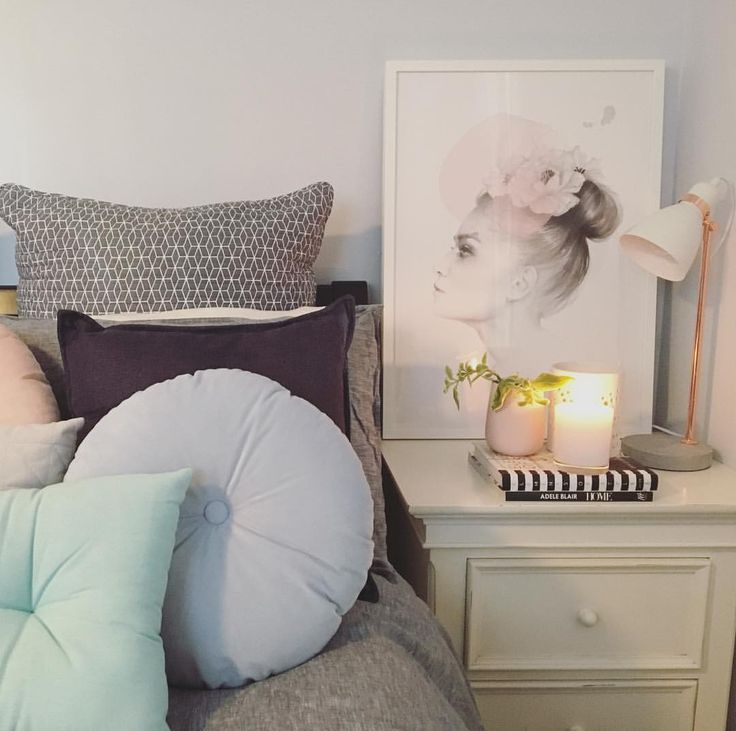 "Pastel bedroom styling with Magdelena Tyboni art print - Sapphire Living Interiors (@sapphire_living) on Instagram: ""Can't wait to snuggle up in here tonight!! It's freezing....! I've been collecting some artworks…"""