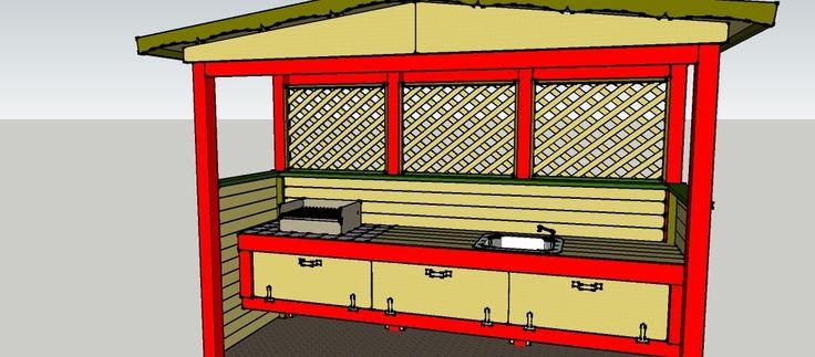 gartenk che zum selber bauen bauanleitungen baupl ne. Black Bedroom Furniture Sets. Home Design Ideas