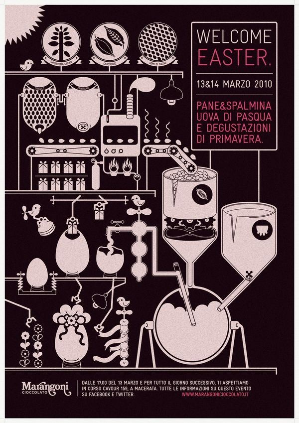 Welcome Easter! by Valentina Marchionni, via Behance