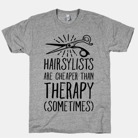 If you love having your hair done, or if you're a hairstylist yourself, this shirt featuring some fashionable hair shears is perfect for sharing your love of hair fashion.