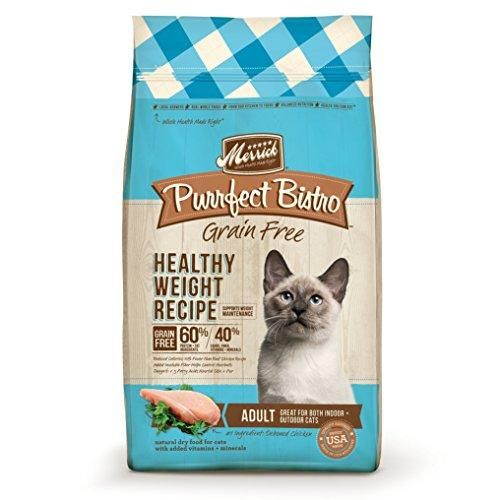 Merrick Purrfect Bistro Grain Free Healthy Weight Adult Cat Food, 4lb