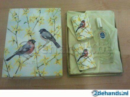 Vintage geschenkset Boldoot: Eau de cologne + 2 zeepjes - Te koop
