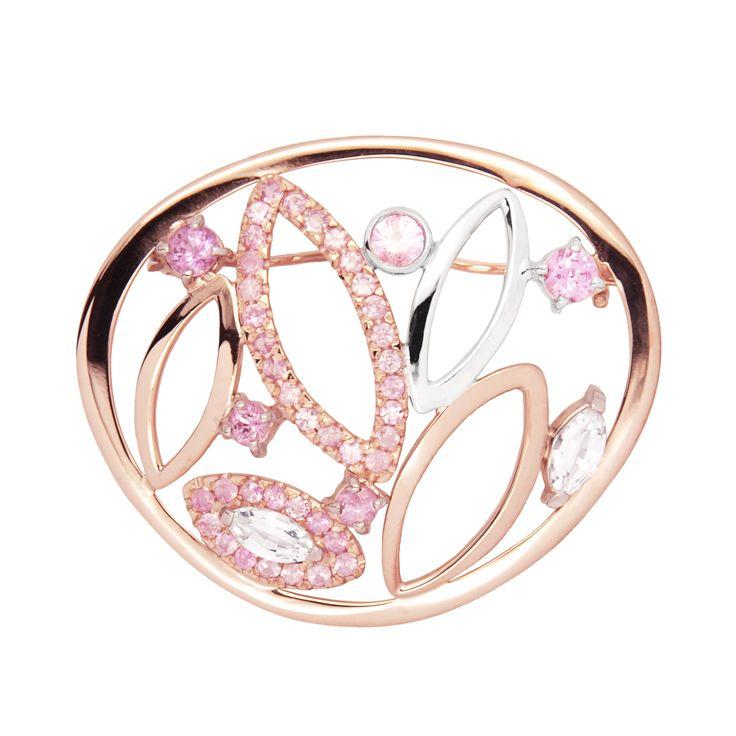 LIKO rose gold diamond pin www.lilikoos.com