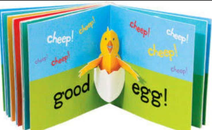 This pop up book stands out because if the pop up bird and because it's only a few colors and is still very bright and colorful