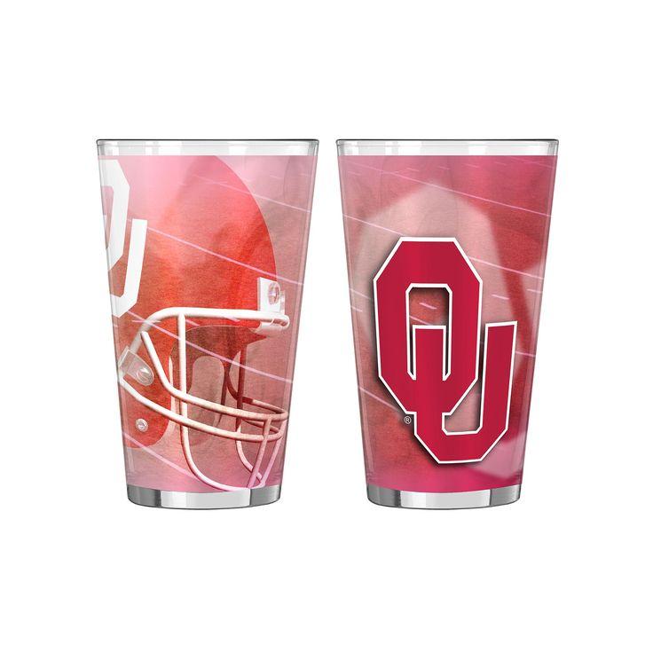 Oklahoma Sooners 2-pc. Pint Glass Set, Multicolor