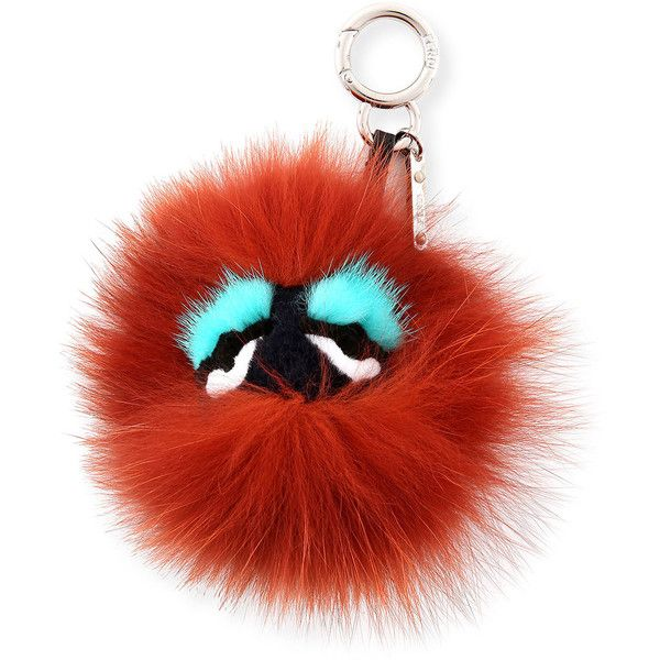 Fendi Monster Mixed-Fur Mini Charm for Handbag (9 835 ZAR) ❤ liked on Polyvore featuring bags, handbags, fendi purses, fox fur handbag, red handbags, red hand bags and man bag
