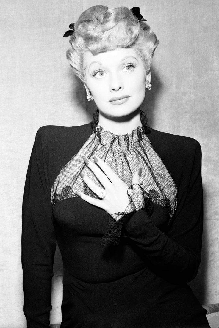 Best Celebrity Engagement Rings - old & new.  Lucille Ball & her cushion cut diamond ring.