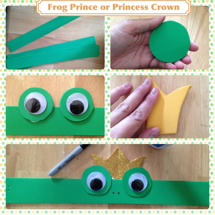 Crown or party hat for a Princess and the Frog Birthday party. Take away the crown to make these for a Frog unit at school.