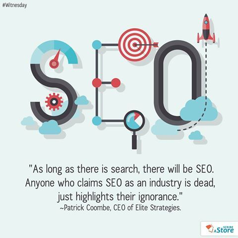#SEO industry is very much alive and kicking!  #WitnesDay #Quote