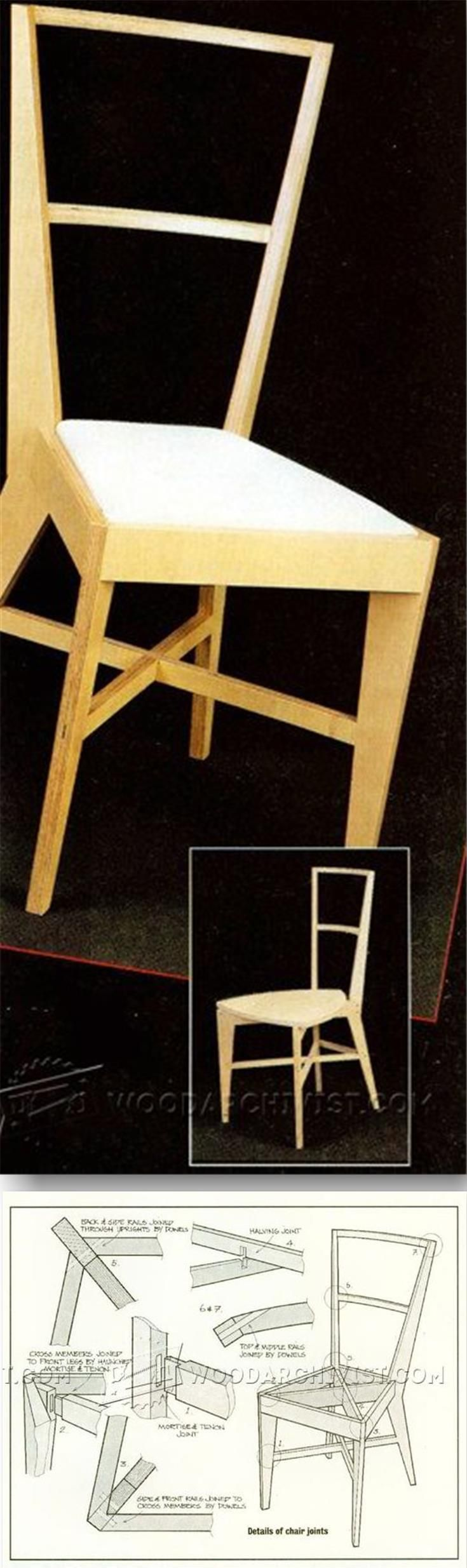 Plywood Chair Plans - Furniture Plans and Projects | WoodArchivist.com