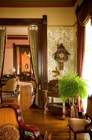 Portiere's in a Victorian Parlor