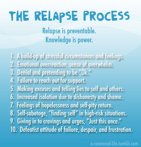 Become in tune with your mind and body. Be aware of what your triggers are to come up with a proactive plan. Do reach out. And most of all, love yourself enough to know that one relapse does not define you or make you weak.