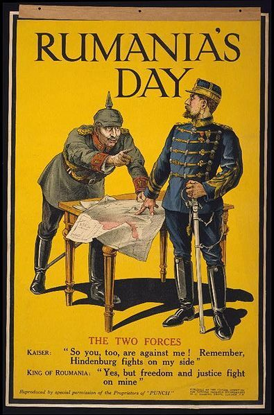 """RUMANIA'S DAY"" Britain welcomes Romania to the Allied side, 1916."