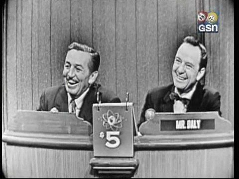 """What's My Line""  Walt Disney was the mystery guest on the 11 November 1956 episode of WML."