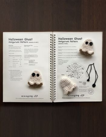 Halloween Ghost Amigurumi Crochet Pattern by Crochet Pattern Kittying from Kittying.com / Mulu.us  Do not purchase, it comes FREE with any halloween patterns from my shop. This is a gift with purchase.However, if you like to you can still proceed to add to cart.