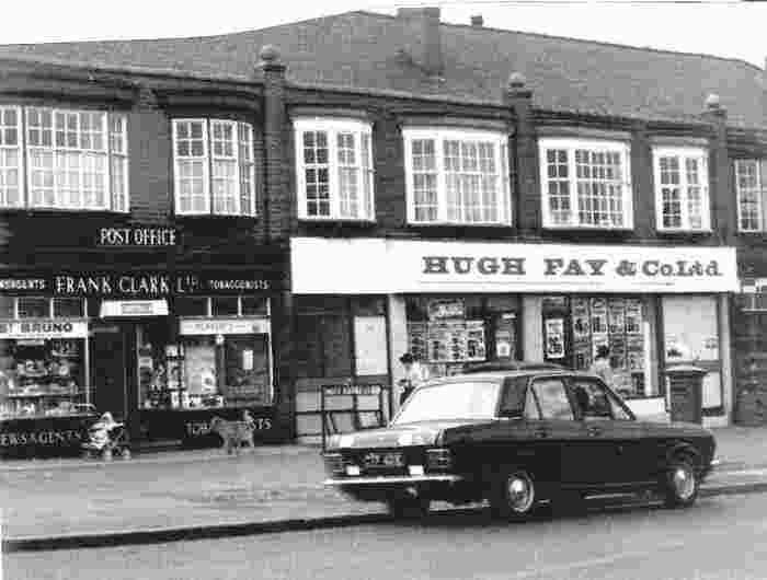 Hugh Fay mini supermarket, Manchester, 1970s.