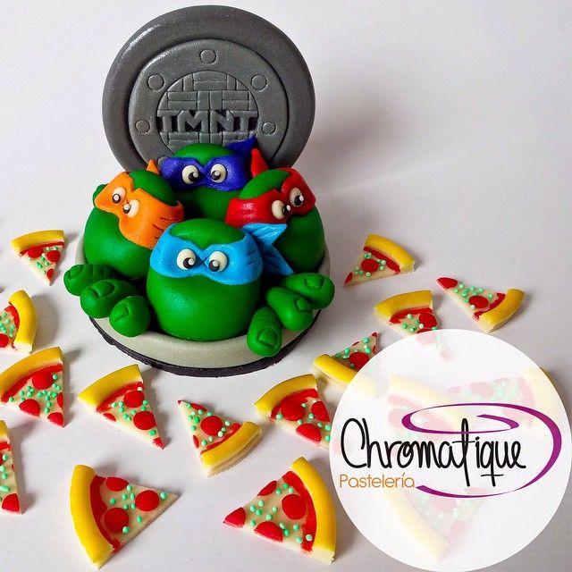 Teenage Mutant Ninja Turtles cake (Torta de las Tortugas Ninja) https://www.facebook.com/ChromatiquePasteleria