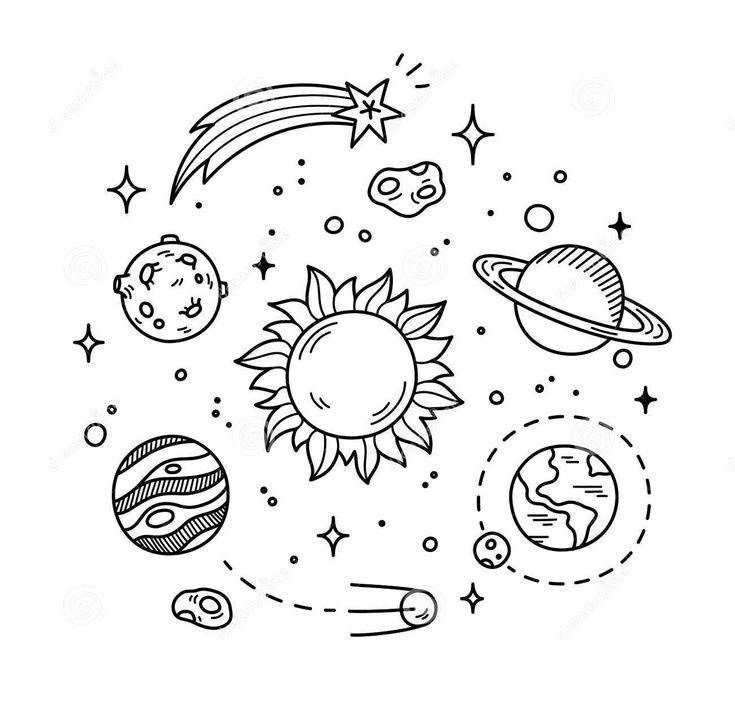 astronomy doodles - photo #31