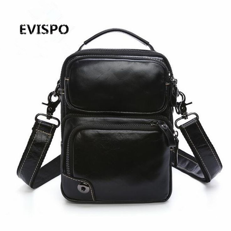 102.00$  Watch now - http://aliwsi.worldwells.pw/go.php?t=32791484028 - EVISPO Genuine Leather Man Bag Business Crossbody Bags Portable Briefcase Laptop Handbag Casual Purse Sacoche Homme Marque