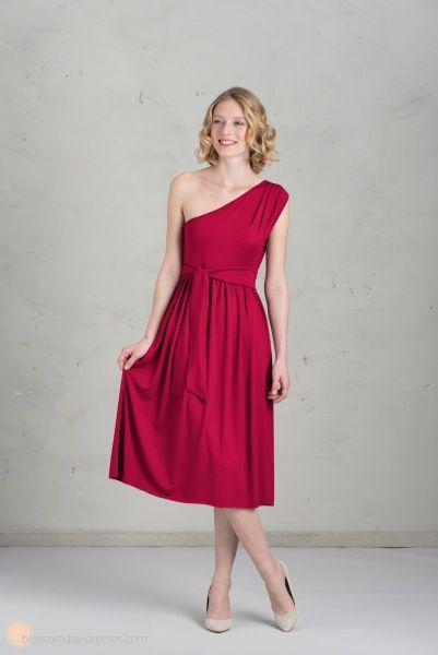 Short bridesmaid dress in raspberry ♥ Kurzes Brautjungfernkleid in himbeere