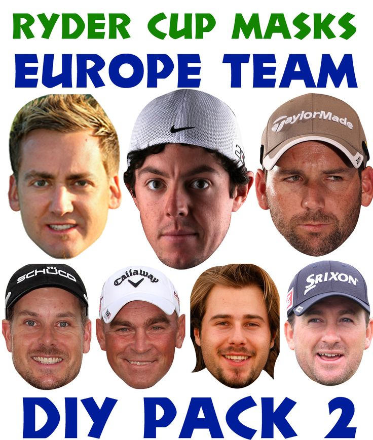 Celebrity-Facemasks.co.uk - Ryder Cup Team Celebrity Face Masks Pack 2, £7.50 (http://www.celebrity-facemasks.com/sports-people-face-masks/ryder-cup-team-celebrity-face-masks-pack-2/)