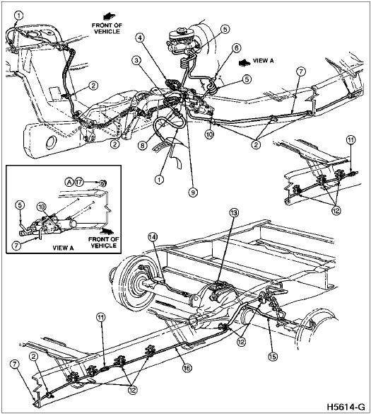 1996 ford f 250 brake lines | Brake System, F150, F250
