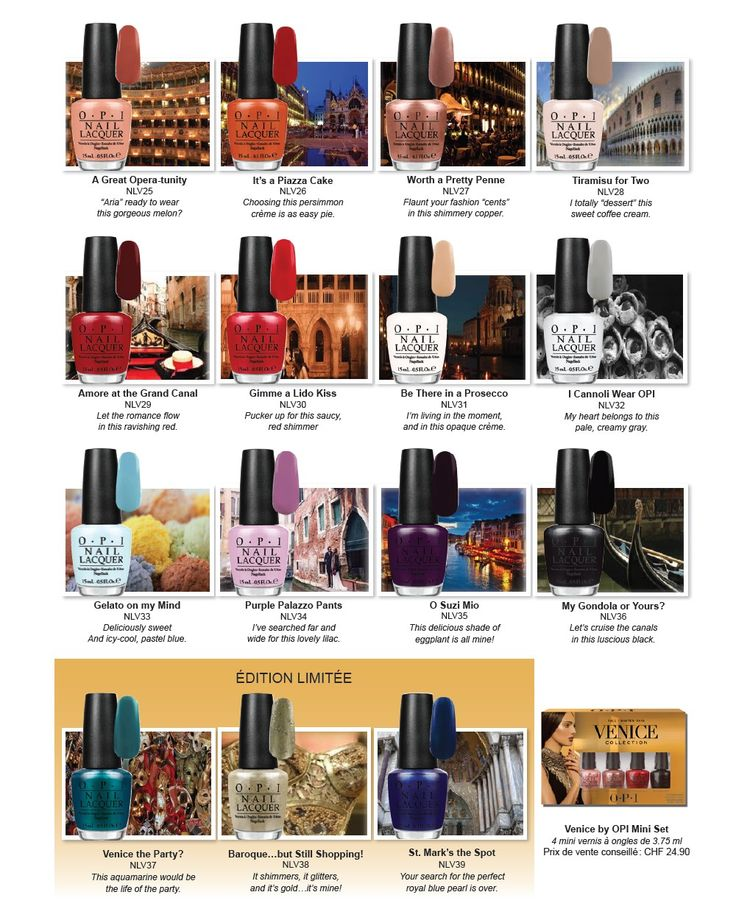 OPI Venice Collection | fall 2015