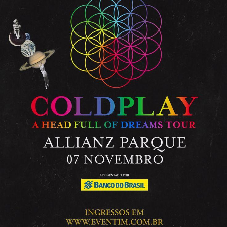 OMG! O @coldplay confirmou dois show no Brasil ainda este ano! As datas escolhidas são: - 7/11 - Allianz Parque, Sao Paulo - 11/11 - Arena do Gremio, Porto Alegre