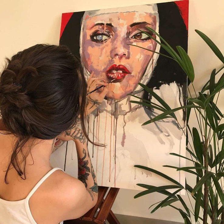 Bild über Mädchen in der Kunst durch Verbündeten rathod auf We Heart It – Art