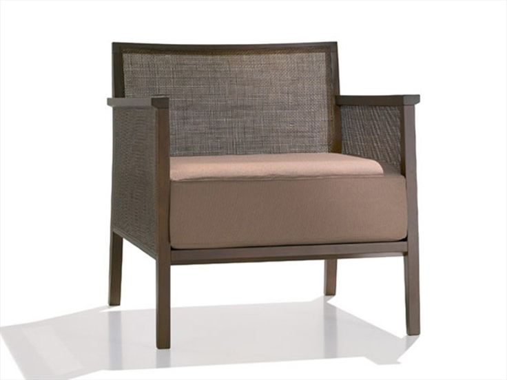 Upholstered armchair with armrests Manila Collection by Andreu World   design Lievore Altherr Molina