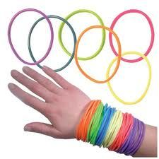 Jelly Bracelets. I had so many of these that I use to wear them up to my elbow