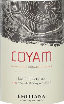 Emiliana Coyam Valle de Colchagua 2013- red wines