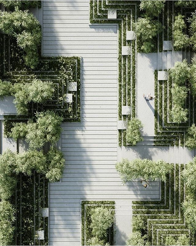 #architecture_hunter  Magic Breeze Landscape Design  By Penda Architects