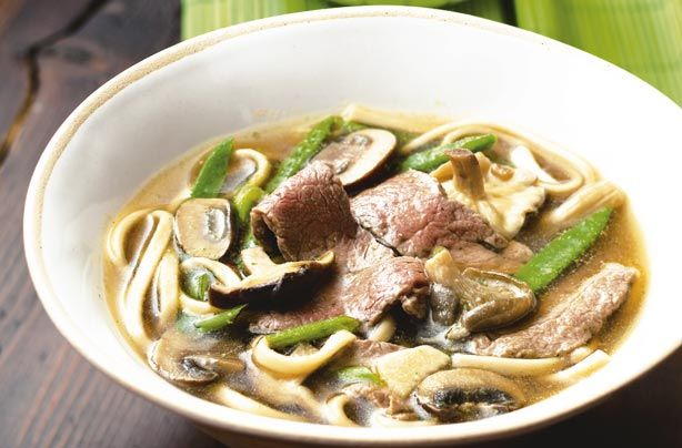 Japanese broth with udon noodles recipe - goodtoknow