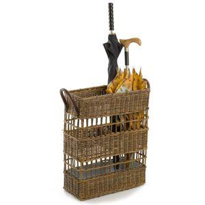Rectangular Wicker Umbrella Basket