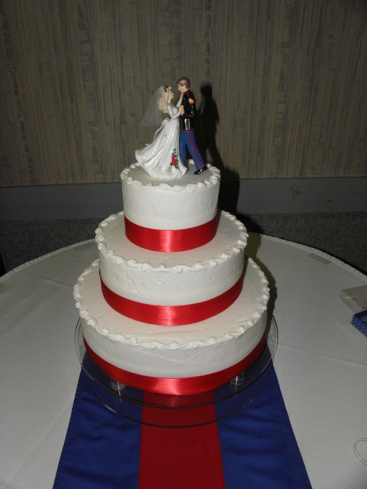 Army Blues WEDDING CAKE IMAGES | Perfect red, white & blue ...